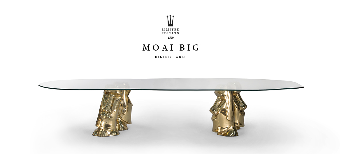 MOAI BIG DINING TABLE - BESSA DESIGN