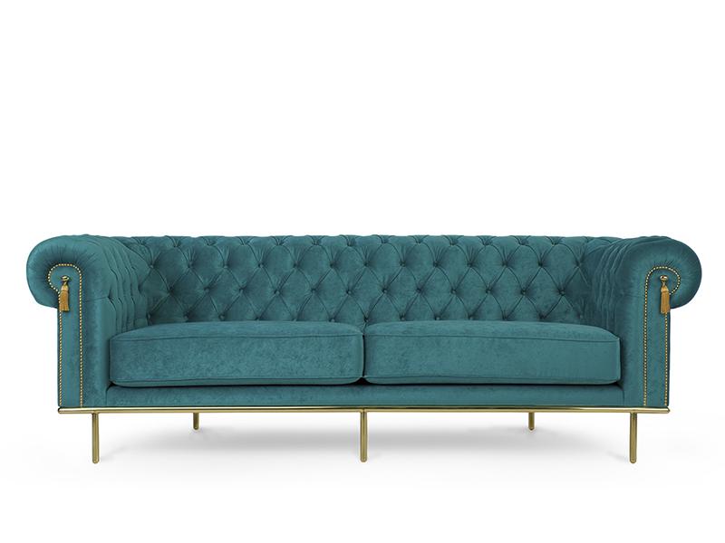 Turquoise Sofas Uk Teal Blue Velvet Chesterfield Sofa